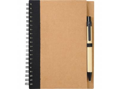 Promotional Giveaway Office   The Eco Spiral Notebook & Pen Black