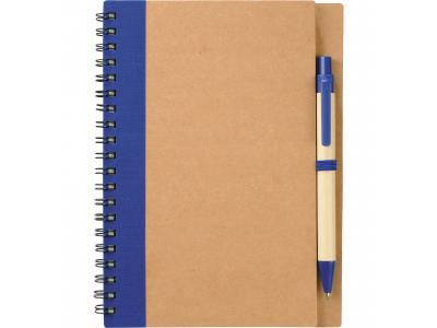 Promotional Giveaway Office   The Eco Spiral Notebook & Pen Blue
