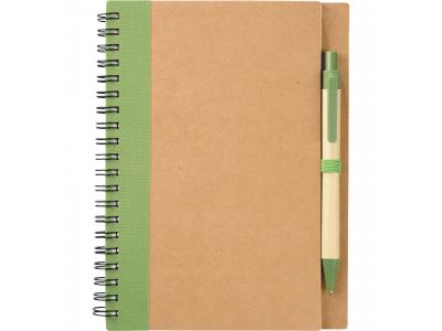 Promotional Giveaway Office   The Eco Spiral Notebook & Pen Green