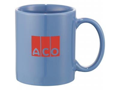 Promotional Giveaway Drinkware | Bounty 11-Oz. Ceramic Mug Light Blue