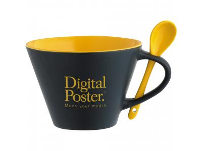 Promotional Giveaway Drinkware | Rancho 16-Oz. Mug With Spoon