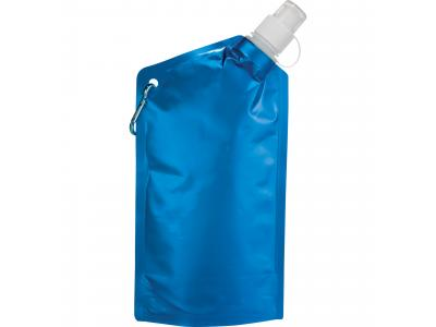 Promotional Giveaway Drinkware | Cabo 20-Oz. Water Bag With Carabiner Metal Blue