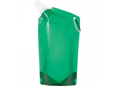Promotional Giveaway Drinkware | Cabo 20-Oz. Water Bag With Carabiner Tran Green