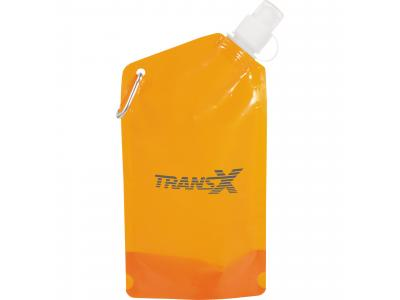 Promotional Giveaway Drinkware | Cabo 20-Oz. Water Bag With Carabiner Tran Orang