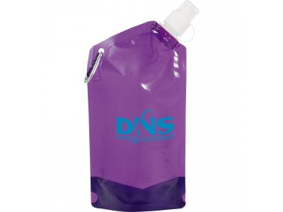 Promotional Giveaway Drinkware | Cabo 20-Oz. Water Bag With Carabiner Tran Purpl