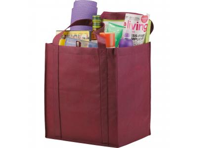 Promotional Giveaway Bags | The Hercules Grocery Tote Burgundy