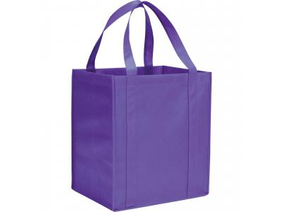 Promotional Giveaway Bags | The Hercules Grocery Tote Purple