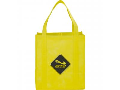 Promotional Giveaway Bags | The Hercules Grocery Tote Yellow