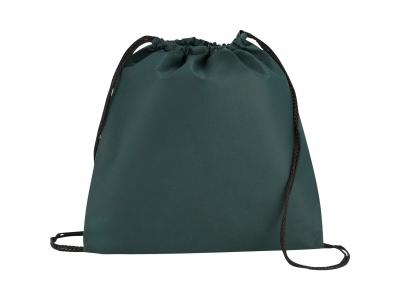 Promotional Giveaway Bags | The Evergreen Drawstring Cinch Backpack Hunter Green
