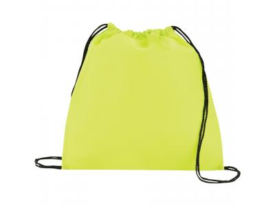 Promotional Giveaway Bags | The Evergreen Drawstring Cinch Backpack Process Lime