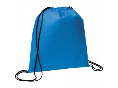 Promotional Giveaway Bags | The Evergreen Drawstring Cinch Backpack Process Blue