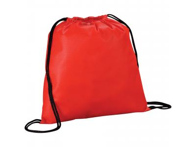 Promotional Giveaway Bags | The Evergreen Drawstring Cinch Backpack Red