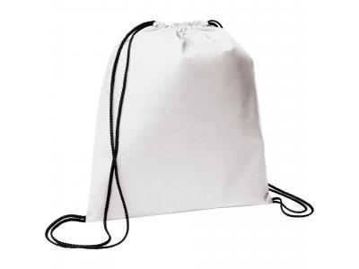 Promotional Giveaway Bags | The Evergreen Drawstring Cinch Backpack White