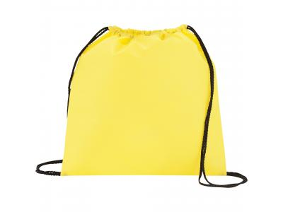 Promotional Giveaway Bags | The Evergreen Drawstring Cinch Backpack Yellow