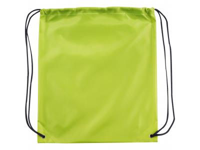 Promotional Giveaway Bags | The Oriole Drawstring Cinch Backpack Lime Green