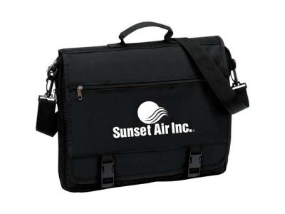 Promotional Giveaway Bags | The Mariner Business Briefcase Black