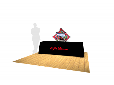 Pop Up Table Top Display   3 Quad Kit C Salesmate