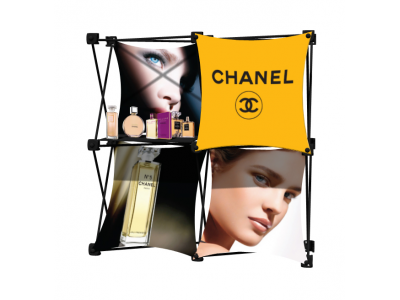 Pop Up Table Top Display   SalesMate 2x2 D w/ Shelf