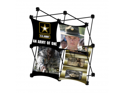 Pop Up Table Top Display | SalesMate 2x2 D w/ Shelf