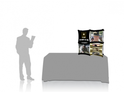 Pop Up Table Top Display | 2x2 A SalesMate with Table