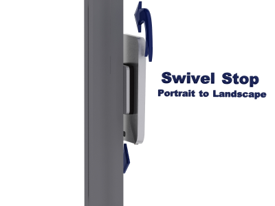 MOD-1318 Swivel iPad Clamshell   Trade Show Displays