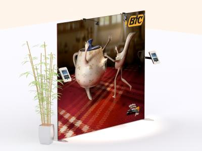 TF-1317 Swivel iPad Clamshell | Trade Show Displays
