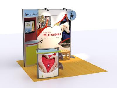 VK-1069 10 Ft Visionary Designs Hybrid Exhibit | Trade Show Displays