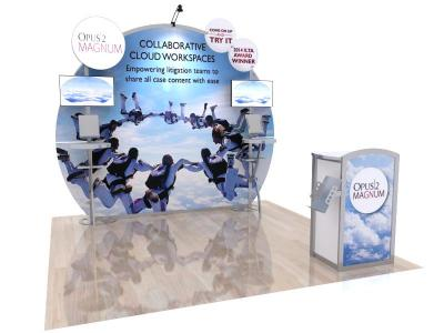 Custom Modular Hybrid Displays | VK-1126 MEO Hybrid 10 Ft Visionary Designs