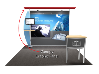 Trade Show Displays | Sacagawea Display Replacement Straight Canopy Graphic