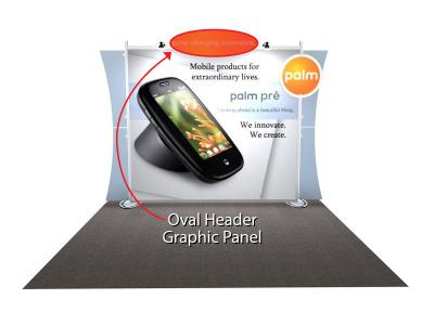 Sacagawea Replacement Oval Header Graphic | Trade Show Displays