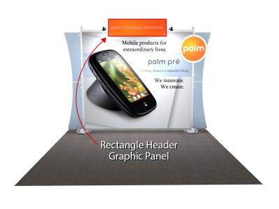 Sacagawea Replacement Rectangle Header Graphic | Trade Show Displays