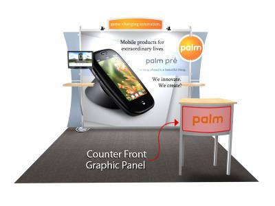 Small Counter Replacement Graphic for the Sacagawea Trade Show Display