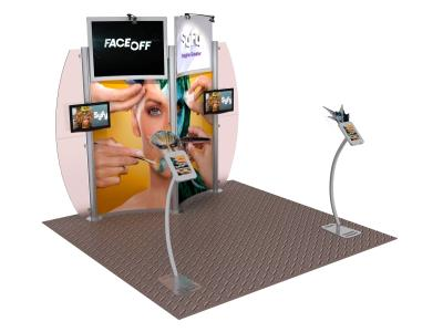 VK-1325 10 Ft Visionary Designs Hybrid Exhibit | Trade Show Displays