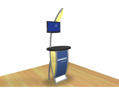Perfect 10 - VK-1606 Pedestal   Custom Modular Hybrid Displays