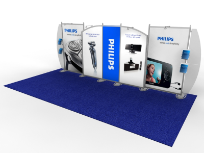 VK-2115 Sacagawea Tension Fabric Displays | Trade Show Displays
