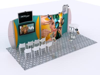 Custom Modular Hybrid Displays | VK-2927 Hybrid Inline 20 Ft Visionary Designs