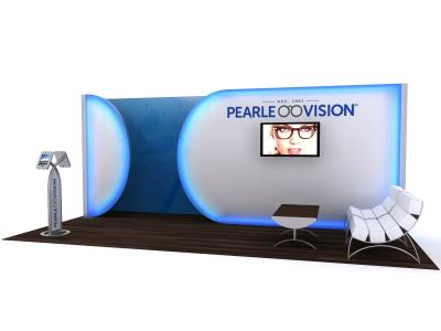 Custom Modular Hybrid Displays | VK-2957 Hybrid Booth 20 Ft Visionary Designs