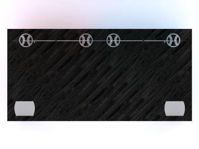 Custom Modular Hybrid Displays | VK-2962 Portable Hybrid Floor Plan