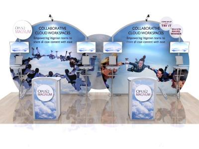Custom Modular Hybrid Displays | VK-2965 MEO Hybrid 20 Ft Visionary Designs