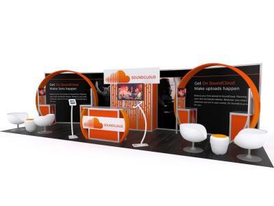 Custom Modular Hybrid Displays | VK-3006 30 Ft Visionary Designs Inline