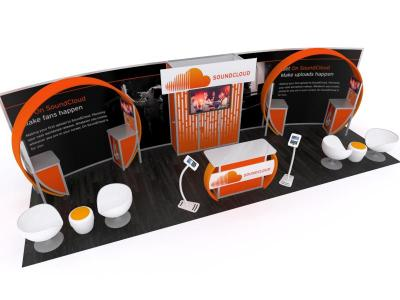 Custom Modular Hybrid Displays | VK-3006 30 Ft Visionary Designs Inline