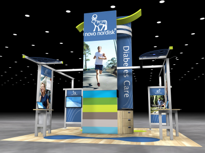 VK-5077 Visionary Island Display | Trade Show Displays