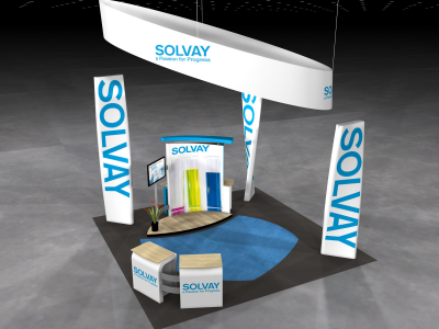VK-5080 Visionary Island Display | Trade Show Displays