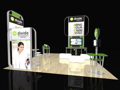 Visions Custom Modular Island Display | Trade Show Displays