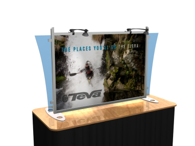 Table Top Display | VK-1290 Sacagawea Tension Fabric Displays