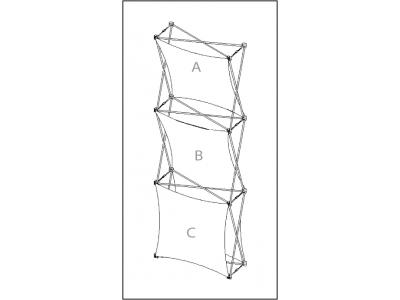 Pop Up Table Top Display   XSNAP 1x3 schematic