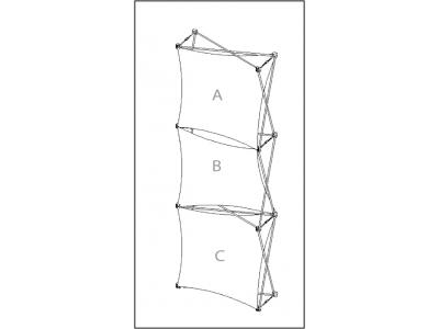 Pop Up Table Top Display | XSNAP 1x3 schematic