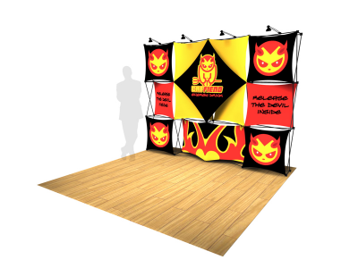 Pop Up DIsplays | Xpressions XSNAP 4x3 Booth