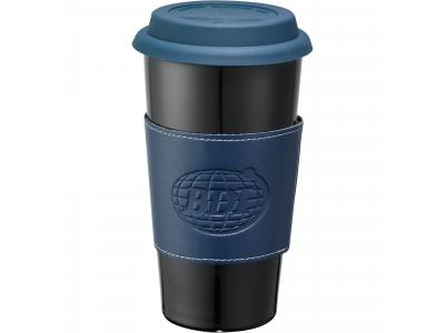 Promotional Giveaway Drinkware | Mega Double-Wall Ceramic Tumbler With Wrap 15oz