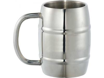 Promotional Giveaway Drinkware | Growl Stainless Barrel Mug 14oz